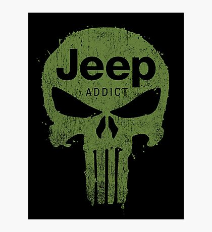 Jeep addict punisher Photographic Print