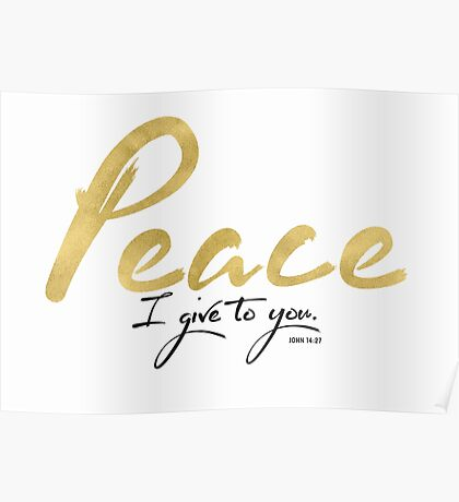 My Peace I Give to You Poster