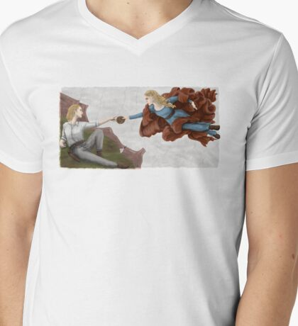 Creation of Dolores Mens V-Neck T-Shirt