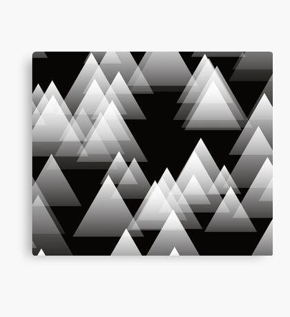 Gray Triangles Canvas Print