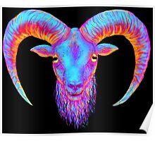 Neon Goat Poster