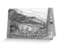 Italy-The view from the Citadel of Assisi Greeting Card