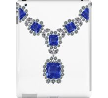'Look at Me' Sapphire Necklace iPad Case/Skin