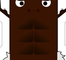 Work Out Chocolate Sticker
