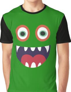 Cool Happy Monster Face T-shirt Cute Smily Face Kids Tshirt Graphic T-Shirt