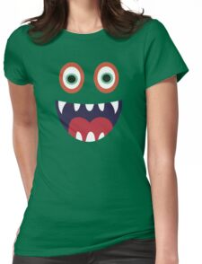 Cool Happy Monster Face T-shirt Cute Smily Face Kids Tshirt Womens Fitted T-Shirt