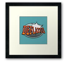Deflated Framed Print