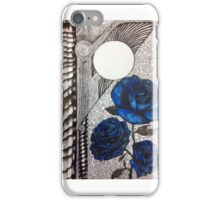 Blue Roses and a Spinal Column  iPhone Case/Skin