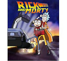 RickAndMorty: Back To The Future Photographic Print