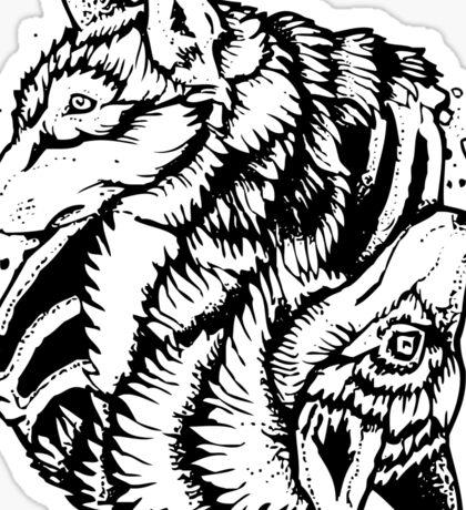 Foxy Wolf Yin Yang Sticker