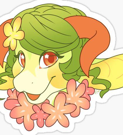 Girly Dragon Sticker