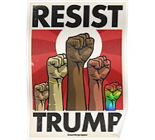Resist Trump, Fists (Updated) Poster