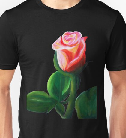 Oil Pastel Rose Unisex T-Shirt