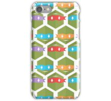 Teenage mutant minimalist turtles Honeycomb (white) iPhone Case/Skin