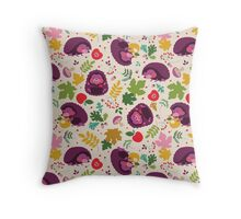 Hedgehog Print Throw Pillow