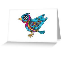 Mechanical Bird Greeting Card