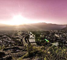 Sunset in Bolzano by Darness