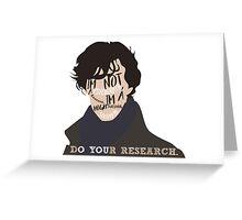 Sherlock - Quotes Greeting Card