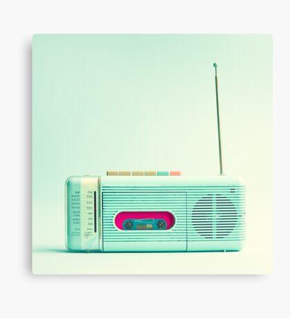 Mint Radio Canvas Print