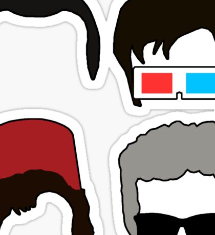 Doctor Who - Four Doctors Faces  Sticker