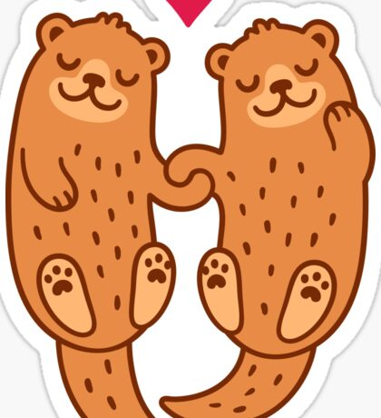Otterly adorable Sticker