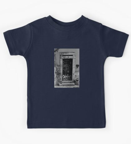 Lisbon door film photography Kids Tee