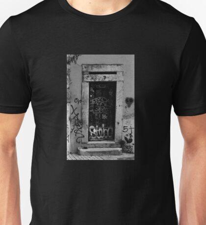 Lisbon door film photography Unisex T-Shirt