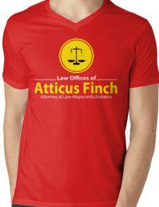 ATTICUS FINCH LAW Mens V-Neck T-Shirt
