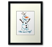 Hi Im Olaf Framed Print