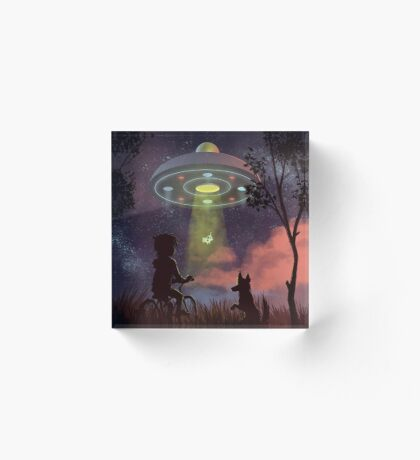 UFO Sighting Acrylic Block
