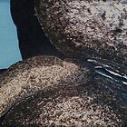 Boulder oil painting 2 by James Lewis Hamilton