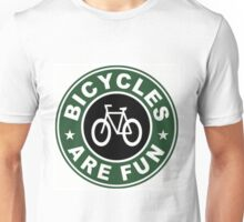 BICYCLES ARE FUN PRINT Unisex T-Shirt