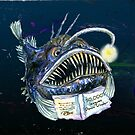 Angler Fish reads 50,000 Leagues Down Under by didielicious