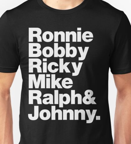 New Edition: Ronnie, Bobby, Ricky, Mike, Ralph and Johnny Unisex T-Shirt
