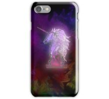 Zen Doodle Unicorn Black Magenta iPhone Case/Skin