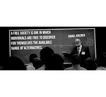 Israel Kirzner Libertarian Austrian Economics Photographic Print