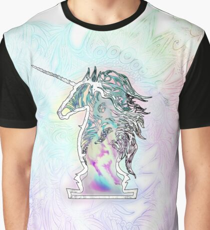 Zen Doodle Neon Unicorn Graphic T-Shirt