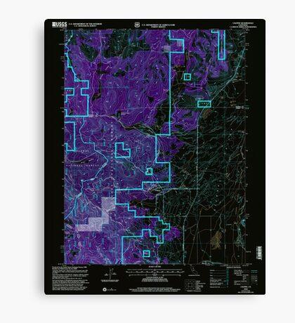 USGS TOPO Map California CA Calpine 100607 2000 24000 geo Inverted Canvas Print