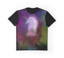Zen Doodle Unicorn Black Magenta Graphic T-Shirt