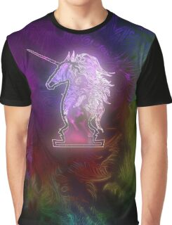 Zen Doodle Unicorn Black Magenta Graphic T-Shirt