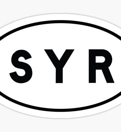 Euro Sticker - SYR - Syracuse Hancock International Airport Sticker