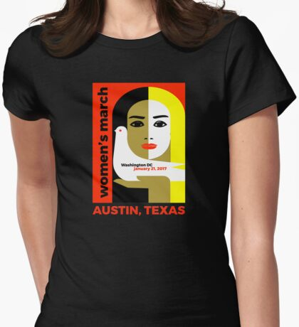 Women's March on Washington 2017, Austin Texas Womens Fitted T-Shirt