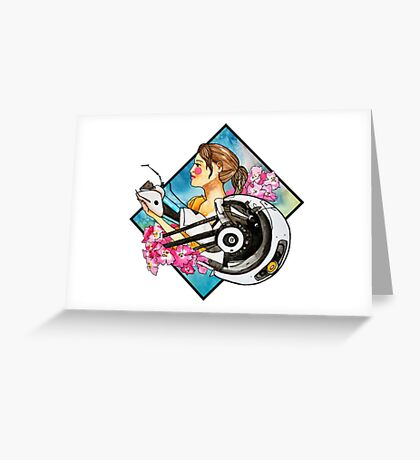 Chell & GLaDOS Greeting Card