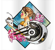 Chell & GLaDOS Poster