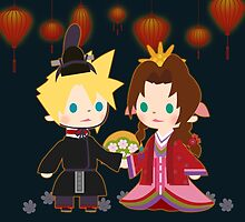 Cloud and Aerith Night Version by Aiysle