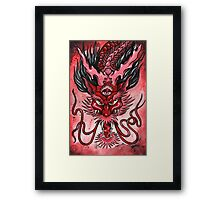 Japanese Tattoo Style Dragon Framed Print