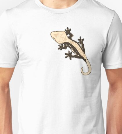 Crested Gecko - Harlequin Pinstripe / crestie eyelash gecko reptile herp morphs morph super high contrast fun new caledonia  Unisex T-Shirt