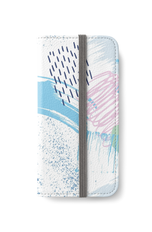 Polo Blue Artistic Abstract Brush by VintageParadise