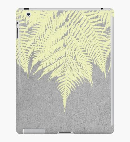 Concrete Fern Yellow iPad Case/Skin