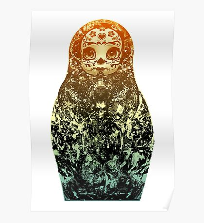day of the dead matryoshka Poster